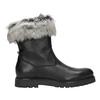 Ladies' Leather High Boots bata, black , 594-6657 - 26