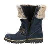 Girls' High Boots with Fur mini-b, blue , 393-9605 - 26