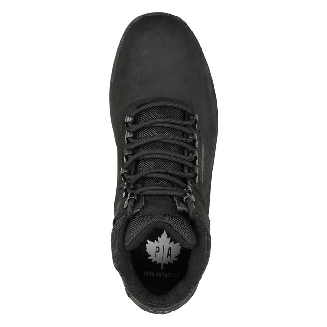 Men's black ankle boots, black , 806-6495 - 15