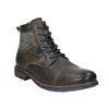Leather Ankle Boots with Blue Detailing bata, gray , 896-2679 - 13