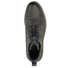 Leather Ankle Boots with Blue Detailing bata, gray , 896-2679 - 26