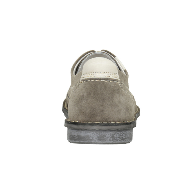 Casual leather shoes bata, gray , 853-2612 - 16