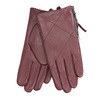 Burgundy leather gloves with zip bata, red , 904-5108 - 13