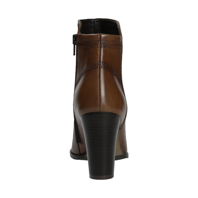 Leather Ankle Boots bata, brown , 794-4650 - 16
