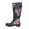 Ladies' Wellingtons with Flowers joules, black , 502-6035 - 17