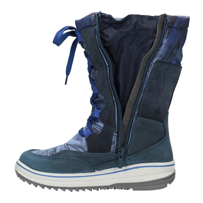 Children's Snow Boots weinbrenner-junior, blue , 393-9607 - 17