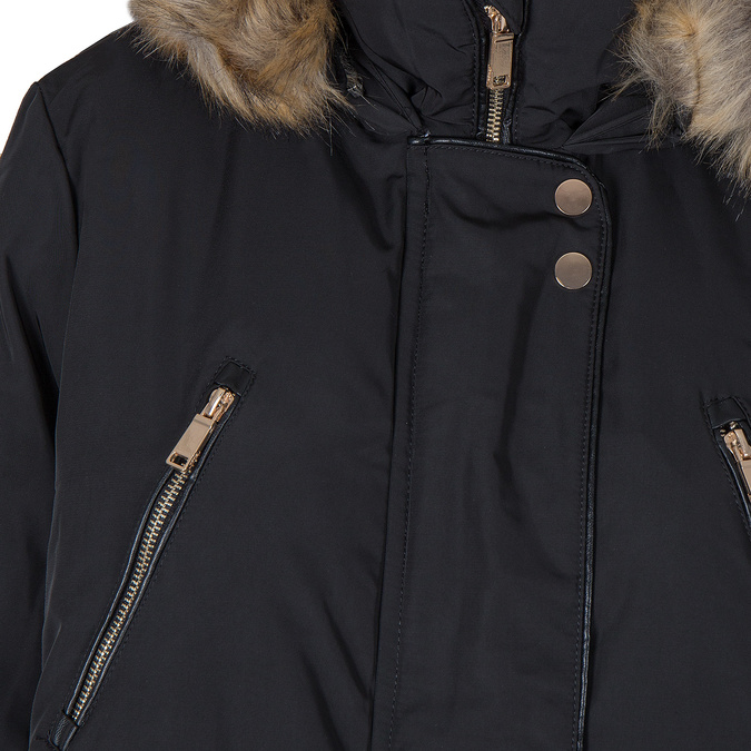 Ladies Parka with Fur bata, black , 979-6177 - 16