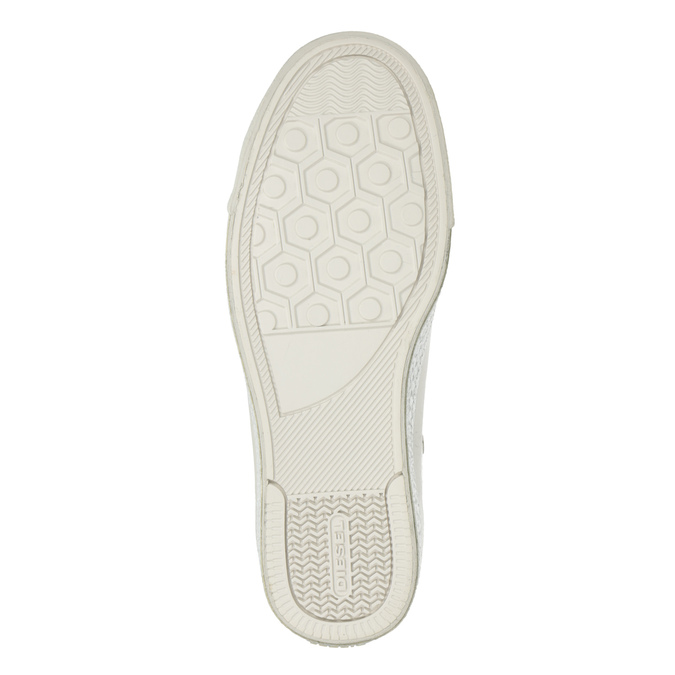 White ankle sneakers diesel, white , 501-6743 - 19