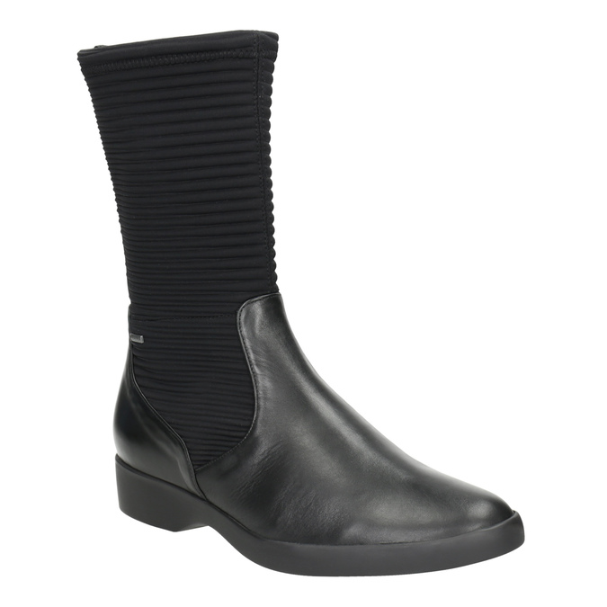 Ladies' leather high boots hogl, black , 614-6037 - 13