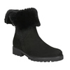 Leather Ankle Boots with Fur gabor, black , 616-6009 - 13