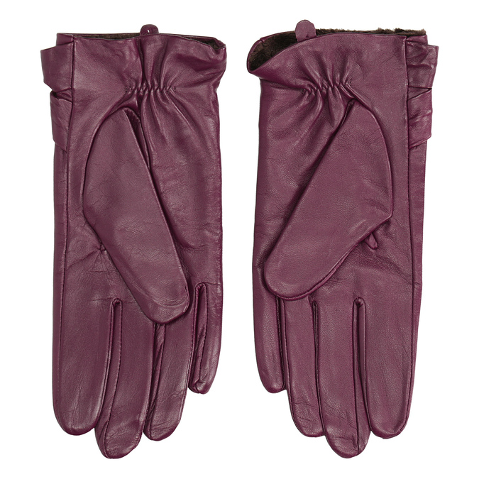 Ladies' leather gloves bata, violet , 904-0109 - 16