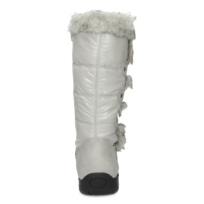 Winter snow boots with fur bata, gray , 599-8618 - 15