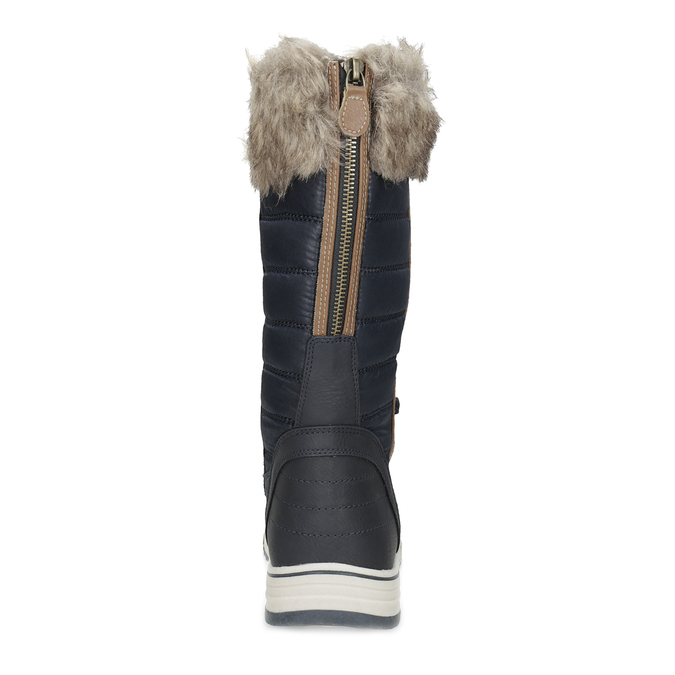 Ladies' snow boots with fur bata, blue , 599-9620 - 15