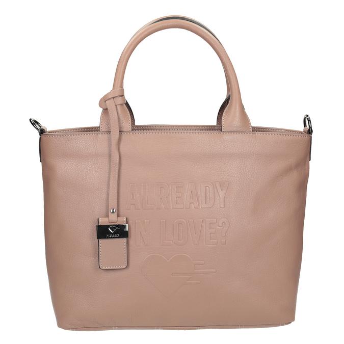 Beige Leather Handbag picard, beige , 964-6080 - 16