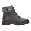 Leather Winter Boots with Fur bata, gray , 594-6650 - 16