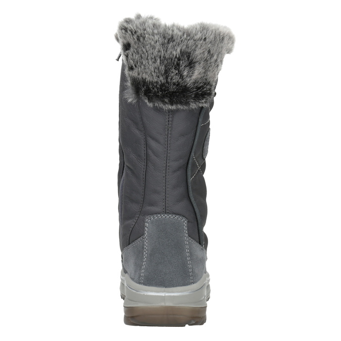 Ladies' winter boots with artificial fur weinbrenner, gray , 593-2616 - 16