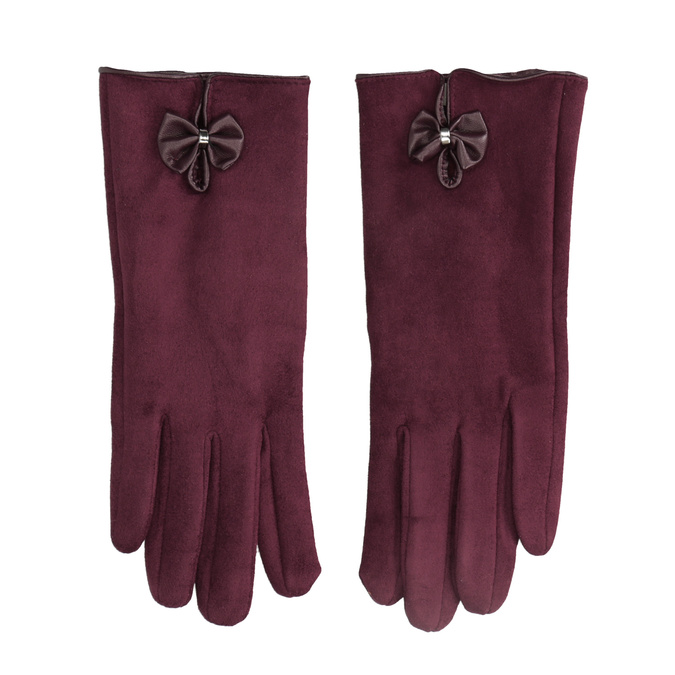 Ladies' gloves with bow bata, red , 909-5613 - 26