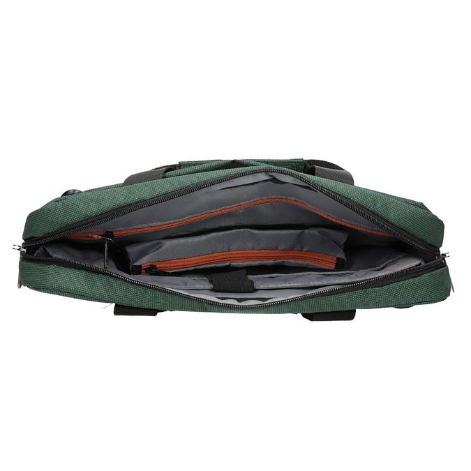Textile laptop bag samsonite, green, 969-7681 - 15