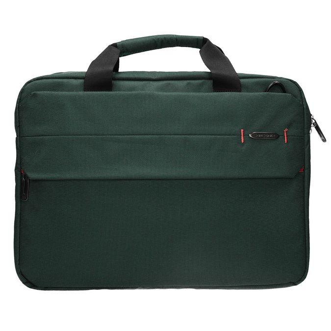 Textile laptop bag samsonite, green, 969-7681 - 26