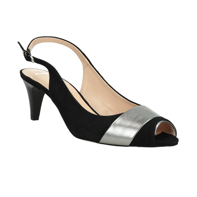 Ladies' court shoes bata, black , 623-6604 - 13