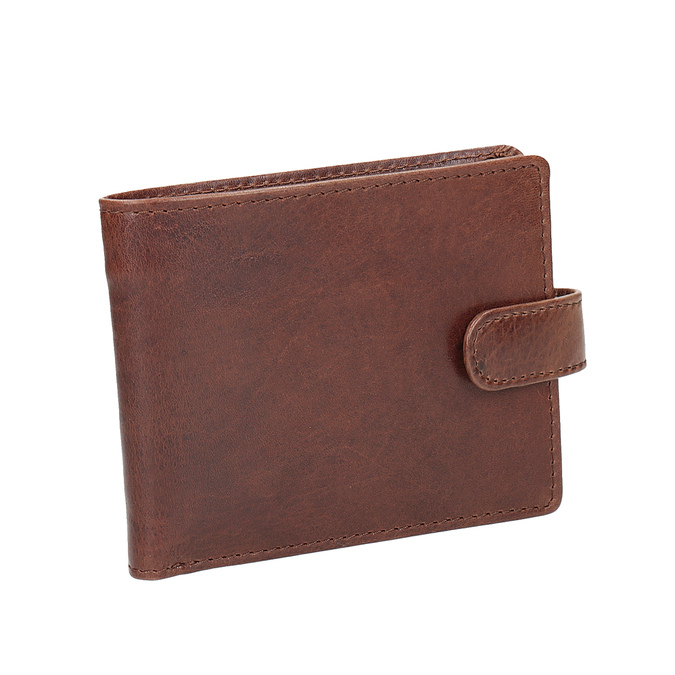Gift pack with leather belt and wallet bata, brown , 954-3201 - 26