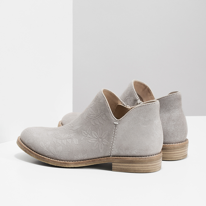 Ladies' ankle boots bata, gray , 596-2685 - 16