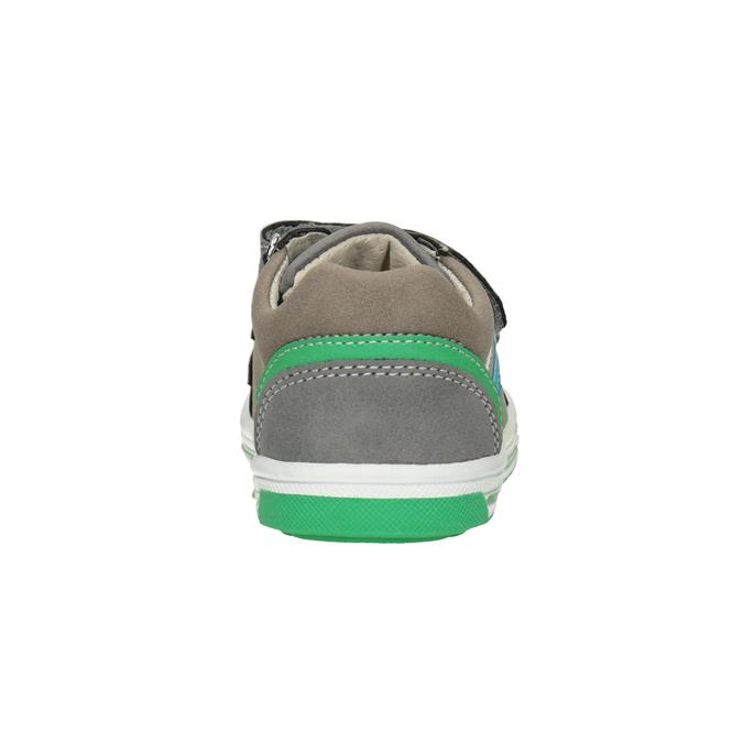 Girls' sneakers with Velcro bubblegummer, gray , 111-2625 - 16