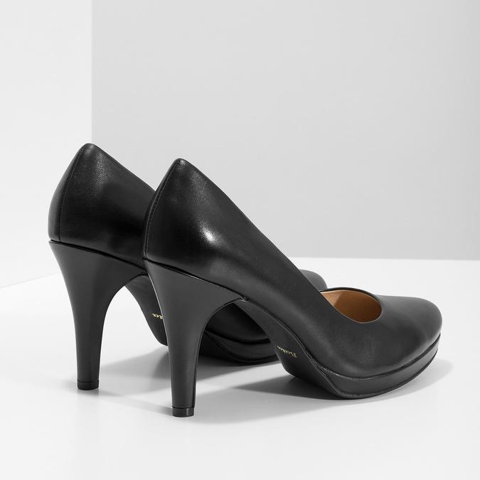 Black leather pumps insolia, black , 724-6104 - 16