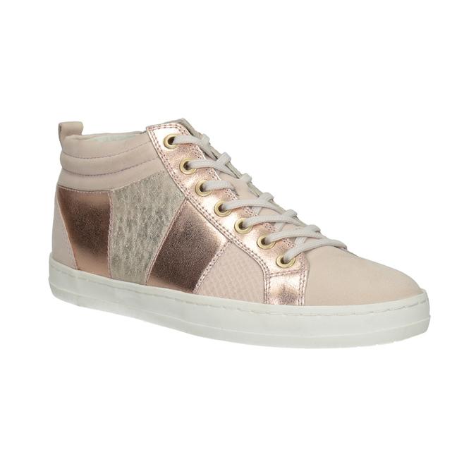 Ladies' high-top sneakers bata, pink , 546-5608 - 13