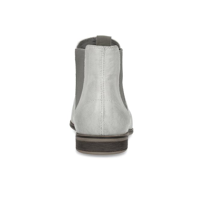 Ladies' Chelsea style boots bata, gray , 596-1684 - 15