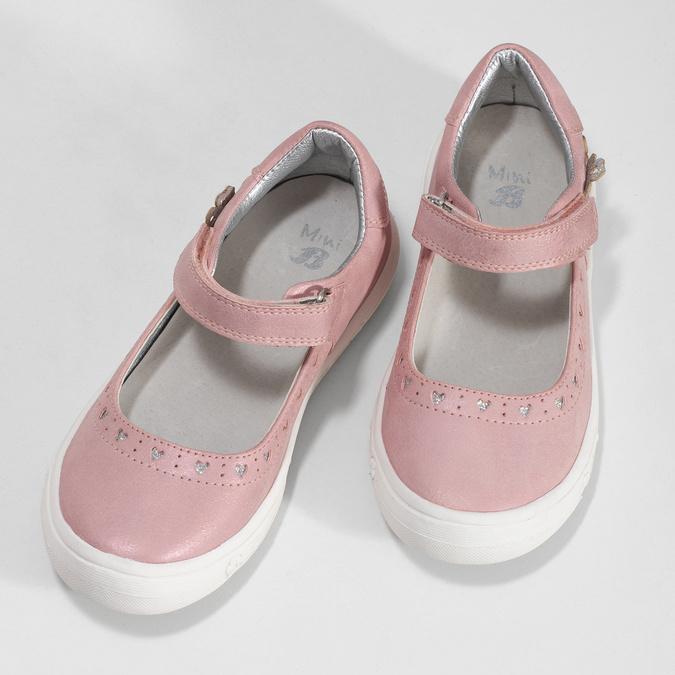 Girls' pink ballerinas mini-b, pink , 221-5216 - 16
