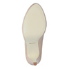 Pinkish cream-colored leather pumps insolia, beige , 724-2104 - 17