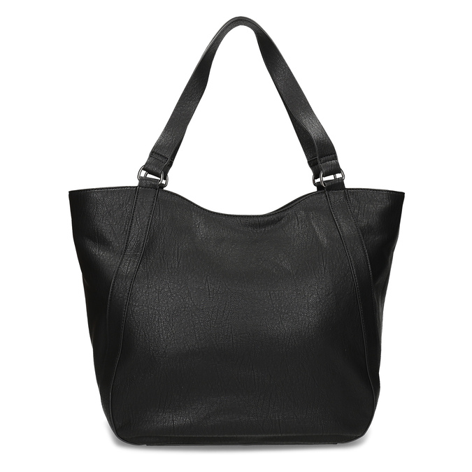 Black studded handbag bata, black , 961-6787 - 16