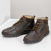 Men's leather ankle boots bata, brown , 846-4645 - 16