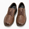 Brown leather shoes bata, brown , 826-4918 - 16