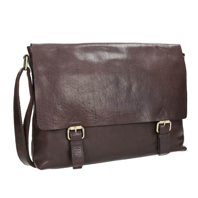 Men's Leather Bag bata, brown , 964-4235 - 13