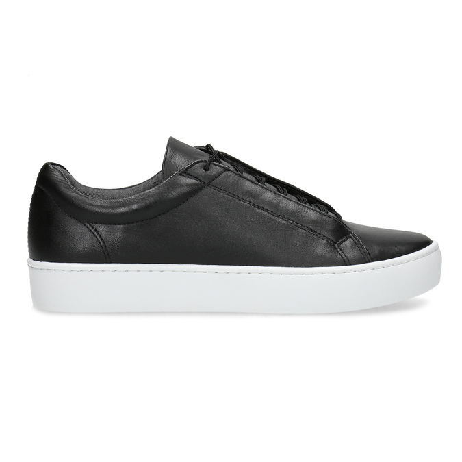 Black leather sneakers vagabond, black , 624-6014 - 19