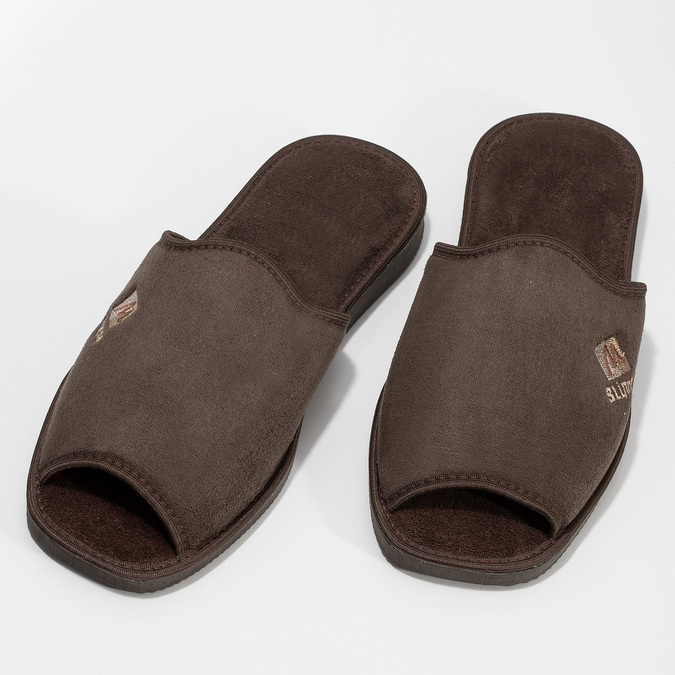 Men's slippers bata, brown , 879-4606 - 16