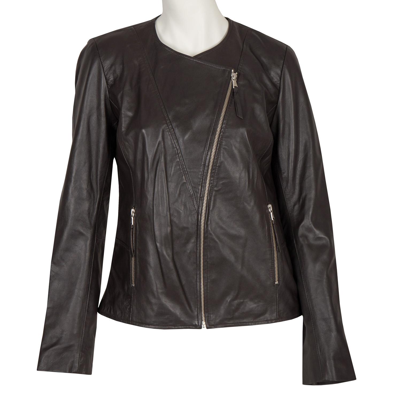 19934c9d4 Bata Ladies' Leather Jacket with Asymmetric Zip - Accessories | Bata